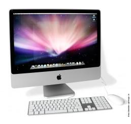 Apple iMac 24 Core 2 Duo 2.4GHz - 4G - 320G -  AMD Radeon HD 2600 Pro + Clavier et sourie filaire MacOS X 10.8.3 Etat Comme neuf