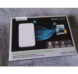 Macally WIFI HDD Boîtier pour disque dur de 2.5 Wifi Blanc Neuf sous emballage