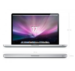 MacBook Pro 17 Core 2Duo 2.6 GHz 4G 320G NVIDIA GeForce 9600M GT + NVIDIA GeForce 9400M Occasion + Cartable