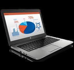 Pc Portable Ultrabook HP EliteBook 840 G1 Core i5-4200U 1.6Ghz Turbo 2.6Ghz 8G 500HDD 7200Rpm + 32SSD Ecran 14 LED HD+ Clavier rétro lecteur d'empreinte Recovery WIN 7 Pro & Licence Win 10 Pro Etat comme neuf