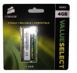 CORSAIR Value Select SO-DIMM 4 Go DDR3 1600 MHz CL11 - PC12800 - CMSO4GX3M1A1600C11 (garantie à vie par Corsair) Neuf sous emballage