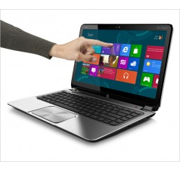 "Pc Portable Sleekbook HP Envy TouchSmart 4 Ultrabook 3éme Génération Core i5-3317U 1.7Ghz 4GB 500G HDD Ecrant 14"" LED HD Beats Audio Clavier Rétro Windows 8 Etat comme neuf"