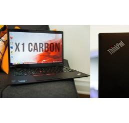 """Pc Portable Ultrabook Lenovo Thinkpad X1 Carbon Core i7-4600U Vpro 2,1Ghz Turbo 3,3Ghz  8G 512G SSD Ecran 14"""" LED WQHD Clavier rétro Lecteur d'empreinte digital Windows 8 Pro Etat comme neuf Garantie constructeur 25-06-2017"""