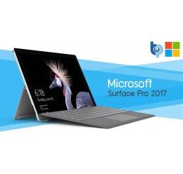 Tablette 2017 MICROSOFT SURFACE PRO 0.78 Kg Core i5-7300U Vpro 2.6Ghz Turbo 3.5Ghz 4G RAM 128G SSD Ecran 12,3 IPS Tactile 2736 x 1824 Licence Windows 10 Pro En bon Etat avec Clavier Microsoft Type Cover Noir Etat comme neuf