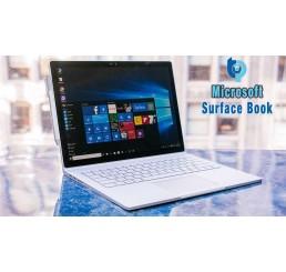 """Tablette MICROSOFT SURFACE BOOK Core i5-6300U 6éme génération 2.4Ghz Turbo 3Ghz - 8G - 128G SSD - Ecran IPS Tactile Multitouch 13.5"""" Résolution : 3000 x 2000 Pixels Windows 10 Pro Avec Clavier Qwerty rétro et Stylet Microsoft Neuf sous emballage"""