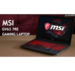 Pc Portable GAMER MSI GV62 7RE Core i7-7700HQ QUAD 2.8GHz Turbo 3.8Ghz 8G DDR4 1000G HDD Ecran 15,6 FULL HD NVIDIA GeForce GTX 1050TI 4G GDDR5 Clavier rétro Free Dos Neuf sous emballage