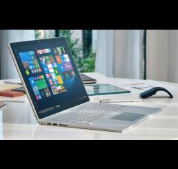 """Tablette MICROSOFT SURFACE BOOK Core i5-6300U 6éme génération 2.4Ghz Turbo 3Ghz - 8G - 128G SSD - Ecran IPS Tactile Multitouch 13.5"""" Résolution : 3000 x 2000 Pixels Windows 10 Pro Avec Clavier Azerty rétro et Stylet Microsoft Neuf sous emballage"""