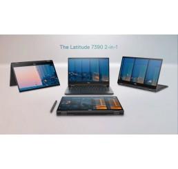 Pc Portable Ultrabook 1.4Kg Latitude 7390 2-in-1 Mi 2018 Core i7- 8650U Vpro 1.9Ghz Turbo 4.2Ghz 16G LPDDR3 256G SSD Ecran 13.3 Tactile FULLHD Clavier rétroéclairé L'empreinte digitale Licence Windows 10 Pro Neuf sous emballage