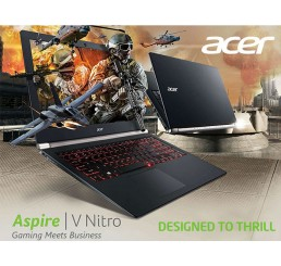Pc Portable Ultrabook GAMER Acer Aspire V15 Nitro 2016 Core i7-6500U 2.5Ghz Turbo 3.1Ghz - 8G - 256G SSD - Ecran 15,6 FULL HD -  Nvidia Geforce GTX 950M 4G GDDR3 - Clavier Rétro - Windows 10 64Bit En bon etat