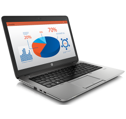Pc Portable Ultrabook HP EliteBook 840 G1 Core i5-4200U 1.6Ghz Turbo 2.6Ghz 4G 500HDD + 32SSD Ecran 14 LED HD+ Clavier Azerty rétro lecteur d'empreinte WWAN & GPS Licence windows 8 & 10 Pro Occasion