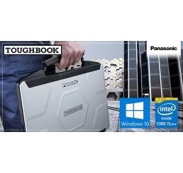 "Pc Portable TOUGHBOOK PANASONIC CF-54 Semi-Durci Core i5-5300U Vpro 2.3Ghz Turbo 2.9Ghz 8 Go RAM 256 Go SSD Ecran 14"" Tactile FULLHD Modem Cellulaire 4G LTE Licence Windows 10 Pro 64 Bit Etat comme neuf"