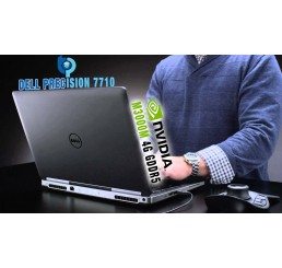 Pc Portable Dell Mobile Workstation Precision 7710 Fin 2016 Core i7 Quad Vpro 6820HQ 2.7GHz Turbo 3.6Ghz Ecran UltraSharp IPS 17.3 FULL HD 32G DDR4  1T HDD 7200 Rpm NVIDIA QUADRO M3000M 4G GDDR5  Windows 7 Pro Etat comme neuf