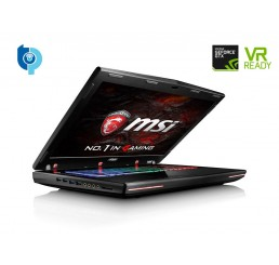 "Pc Portable GAMER 2016 MSI Dominator Pro GT72VR 6RE Core i7-6700HQ QUAD 2.6GHz Turbo 3.5Ghz 16G DDR4 1000G HDD 7200 Rpm + 256G SSD NVIDIA® GeForce™ GTX 1070M 8G GDDR5 Ecran 17,3"" IPS FULL HD FREE DOS Clavier Rétro Etat Quasi Neuf"