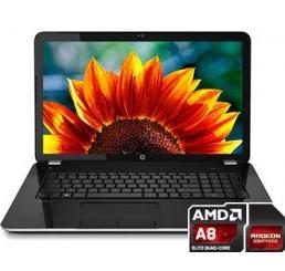 Pc Portable HP Pavilion 17-e045sb série A A8-4500M QUAD 1,9GHZ Turbo 2,8Ghz 8Go RAM - 1To HDD AMD Radeon HD 7640G / 8670M Double GPU - Ecran 17.3 LED HD+ Audio DST+ Clavier Azerty Win 8.1 64 Etat comme neuf