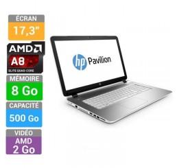 Pc Portable HP Pavilion 17-f226nf série A A8-6410 QUAD 2GHZ Turbo 2,4Ghz 8Go RAM - 500Go HDD AMD Radeon R7 M260 2Go - Ecran 17.3 LED HD+ BeatsAudio Clavier Azerty Windows 8.1 64 Neuf sous emballage Garantie constructeur 26-04-2016
