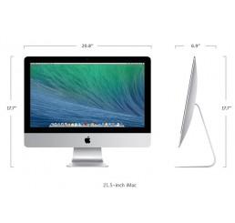 Apple iMac 21,5 Pouces Mi 2014 Core i5 1,4 GHz Turbo 2,7 Ghz - 8Go - 500Go HDD - Intel HD Graphics 5000 - Apple OSX Yosemite - Etat comme neuf Garantie Constructeur 22-12-2015