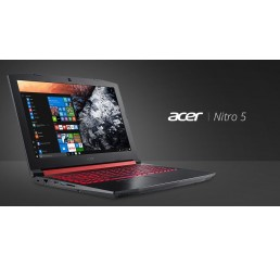Pc Portable GAMER Acer NITRO 5 Core i7 Quad 7700HQ 2.8Ghz Turbo 3.8Ghz 16G DDR4 1T HDD + 128SSD 15,6 FULL HD Nvidia Geforce GTX 1050 TI 4G GDDR5 Clavier Rétro Licence Windows 10 64Bit Neuf sous emballage