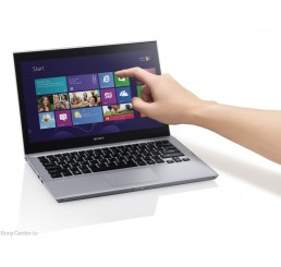 Pc Portable Ultrabook Tactil Sony Vaio SVT 13 Core i3 3eme Gen 3217U 1,8Ghz Turbo 2.7Ghz 4G  500G HDD + 24G SSD - Ecran 13.3 LED HD - Recovery Windows 8 Occcasion