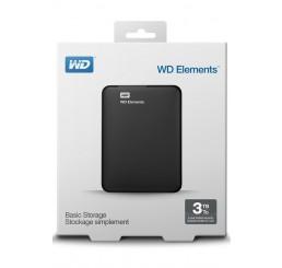 DIsque dure Externe 2,5 Pouces Western Digital WD ELEMENTS Portable 3 To USB 3.0 Compatible Windows 7/8/10 Neuf sous emballage