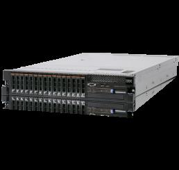 """Serveur Montable sur rack Lenovo System x3650 M4 7915 2 Processeur Xeon E5-2630L V2 2.4 GHz Turbo 2.8 Ghz - 64 Go PC3L 12800R - 9600 GB  2.5"""" SAS 6Gb 10K rpm Neuf sous emballage Garantie constructeur 20-02-2019"""