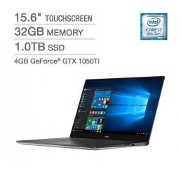Pc Portable Dell 2018 4K XPS 15 9570 i7 Hexa-Core 8750H 2.2GHz Turbo 4.1Ghz 15.6 Tactile Ulra HD (3840 x 2160) 32G 1T SSD NVIDIA GeForce GTX 1050Ti 4G GDDR5 Clavier rétro Licence Windows 10 64Bit Neuf