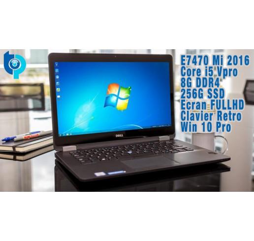 Pc Portable Latitude Ultrabook Mi 2016 E7470 Core i5 Vpro 6300U 2.4Ghz Turbo  3.0Ghz 6a555ea00ade